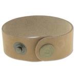 leren armband 40 mm - naturel