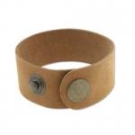 leren armband 27 mm - bruin tan