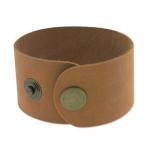 leren armband 40 mm - bruin tan