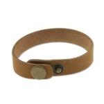 leren armband 14 mm - bruin tan