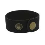 leren armband 27 mm - zwart