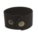 leren armband 40 mm - zwart