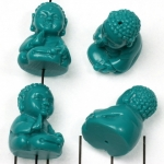 young buddha palm sign - turquoise