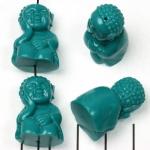 young buddha sleeping - turquoise