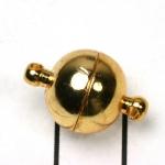 magnetisch slotje supersterk - 12 mm goud