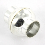 magnetisch slotje supersterk voor veters - 6 mm gat lichtzilver