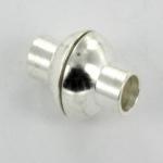 magnetisch slotje supersterk voor veters - 2 mm gat lichtzilver
