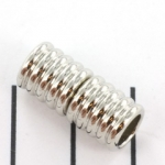 magnetic lock round striped - silver