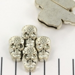 magnetic lock skull - silver