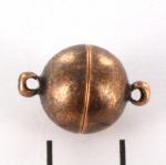 magnetisch slotje supersterk - 12 mm antiek koper