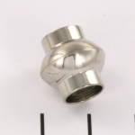 magnetic lock super strong for laces - 8 mm hole light silver round