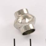 magnetisch slotje supersterk voor veters - 8 mm gat lichtzilver rond