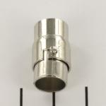 magnetisch slotje met haaksluiting  - zilver 9 mm