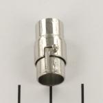magnetisch slotje met haaksluiting  - zilver 8 mm