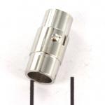 magnetisch slotje met haaksluiting 17 mm - zilver