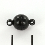 magnetic clasp super strong - 8 mm black