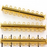 slide lock magnetic gold - 9 rings