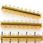 insteekslot magnetisch goud - 9 ringen