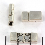 magnetisch slot plat - zilver 18 mm