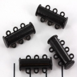 slide lock magnetic black - 3 rings