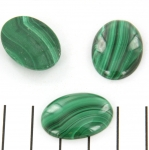cabochon 25 x 18 mm - malachite