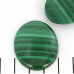 cabochon 40 x 30 mm - malachite