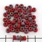 Matubo rocaille 2/0 (6 mm) - matte opaque red rembrandt