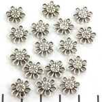 connector flower 12 mm - silver