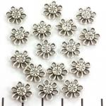 tussenzetsel bloem 12 mm - zilver