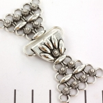 clasp with flower - 31 mm