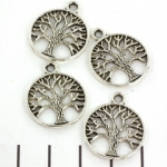 bedel tree of life 24 mm - zilver