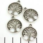 bedel tree of life 24 mm - zilver