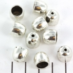 beadshood round smooth 10 mm - silver
