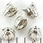 kralenkap tulp 18 mm - zilver
