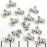 charm love silver - 10 mm