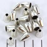 kralenkap ovaal 11 mm - zilver