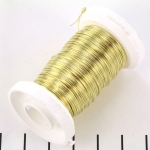 metaaldraad - 0,4 mm messing goud