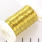metaaldraad - 0,3 mm goud
