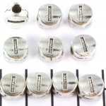 metal alphabet letter bead - silver I