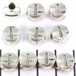 metalen alfabet letter kraal - zilver I