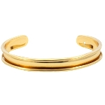 base metal bracelet for 5 mm rope - gold
