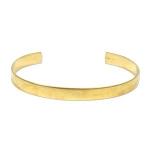 cuff armband metaal - goud 6 mm