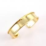metalen basis armband voor 10 mm koord - goud