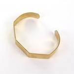cuff armband metaal - goud vervormd 63 mm