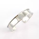metalen basis armband voor 10 mm koord - lichtzilver
