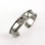 metalen basis armband voor 10 mm koord - zwart