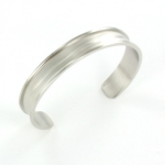 metal bracelet for 10 mm cord - silver rounded corners