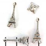 metalen hanger versierd - zilver