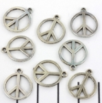 peace - silver 16 mm