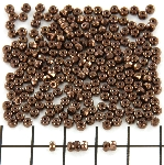 faceted micro spacers - dark bronze